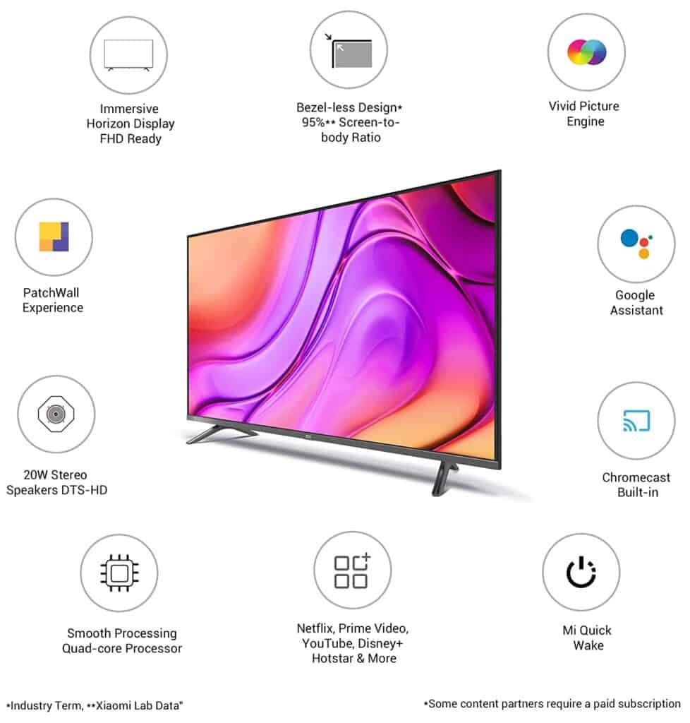 MI TV 4A Horizon 32 Inch vs 43 Inch